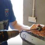 Заточка цепи бензопилы простым способом