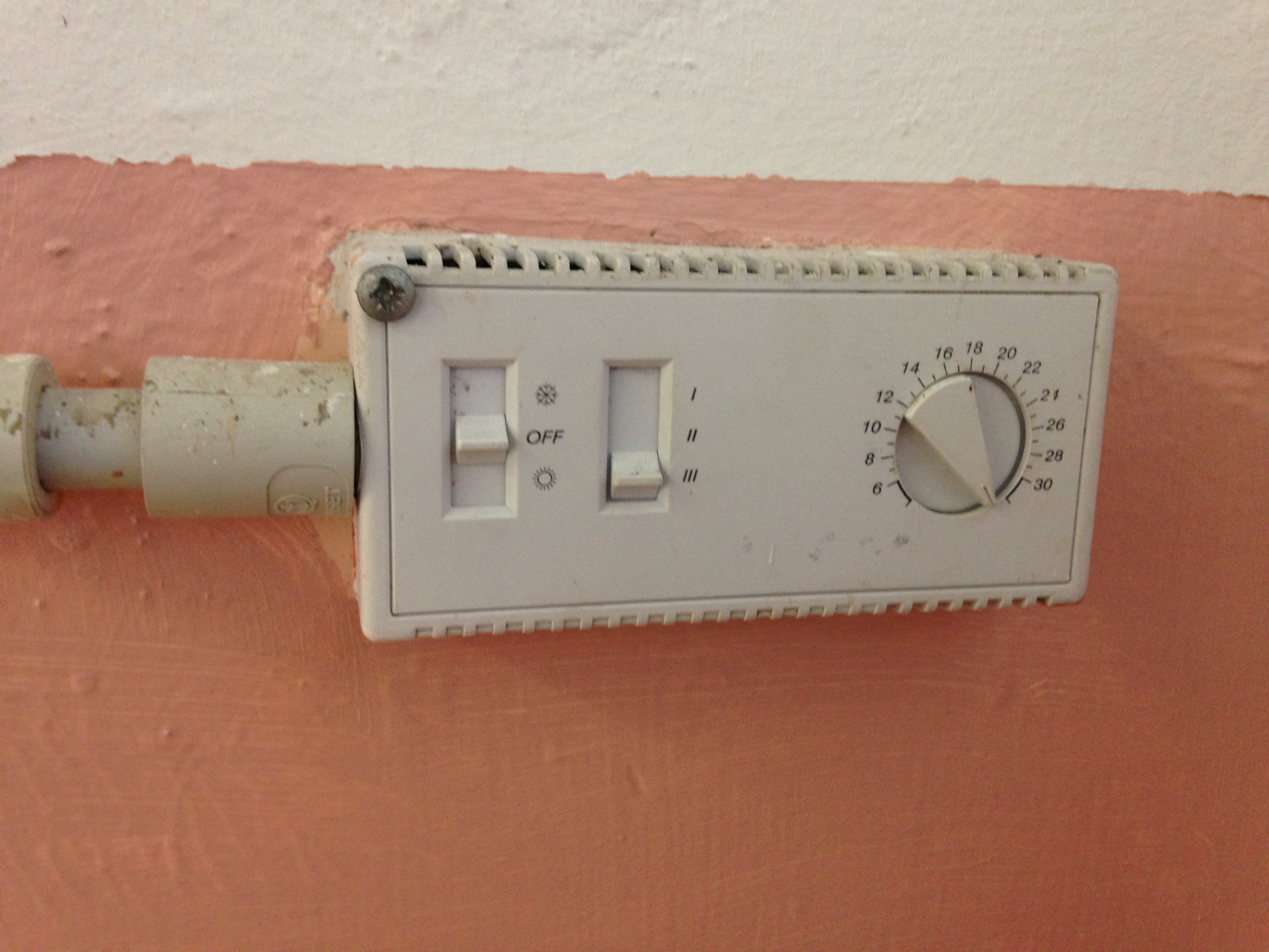 thermostat and cable